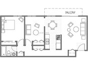 Evergreen East One Plus Den Floorplan
