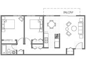 Evergreen East Two Bedroom Floorplan