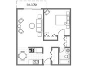 Johnson Parkway One Bedroom Floorplan