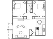 Johnson Parkway Two Bedroom Floorplan