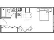Johnson Parkway Studio Floorplan