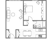 Edgerton Highlands Apts. & Townhomes One Bedroom B Floorplan