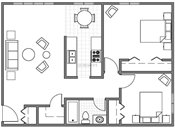 Edgerton Highlands Apts. & Townhomes Two Bedroom B Floorplan