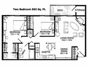 Walnut Trails Townhome Apts 2 Bedroom Floorplan
