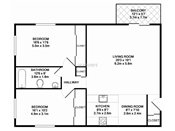 Georgetown on the River Two Bedroom Floorplan