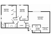 Valley View Two Bedroom Floorplan