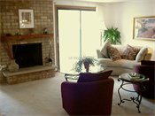 Auburn Townhomes Model Living Room