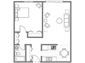 Grand Magnolia Apartments One Bedroom Floorplan