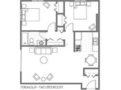 Grand Magnolia Apartments Two Bedroom Floorplan
