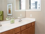 Genesee Apartments and Townhomes Model Bathroom