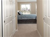 Genesee Apartments and Townhomes Model Bedroom