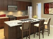 Genesee Apartments and Townhomes Model Kitchen