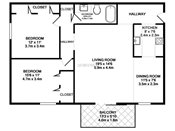 Maplewood Two Bedroom Floorplan