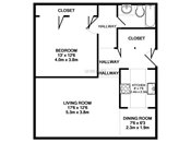 Maplewood One Bedroom Floorplan