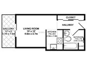 Maplewood Studio Floorplan