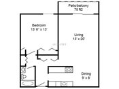 Lexington Heights One Bedroom Floorplan