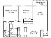 Lexington Heights Two Bedroom Floorplan