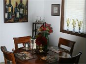 Bridgeway Apartments Model Dining Room