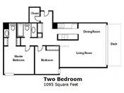 Thornton Place Two Bedroom Floorplan
