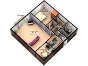 Sage Park 3D One Bedroom Floorplan