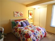 Fox Forest Townhomes Model Bedroom