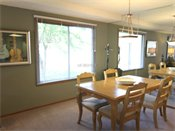 Fox Forest Townhomes Model Dining Room