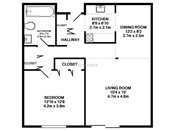 Rosedale Estates One Bedroom Floorplan
