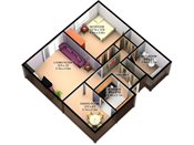 Rosedale Estates 3D One Bedroom Floorplan