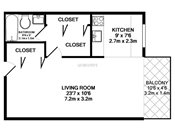 Rosedale Estates Studio Floorplan
