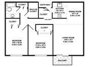 Rosedale Estates Two Bedroom Floorplan
