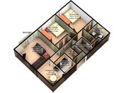 Rosedale Estates 3D Two Bedroom Floorplan