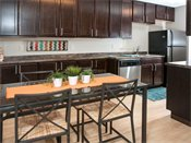 Shoreview Grand Apartments Model Kitchen