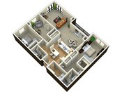 The Plaza Three Bedroom Floorplan
