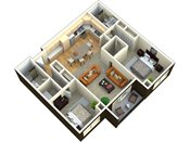 The Plaza Two Bedroom Floorplan