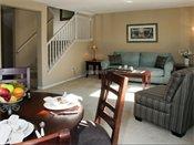 Carver Lake Townhomes Model Living Room