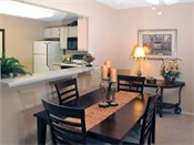 Stonehill Apartments Model Dining Room