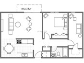 Park Vista One Plus Den Floorplan