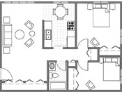 Parkview Apartments Two Bedroom Floorplan