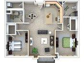 Heritage Landing Two Bedroom Floorplan