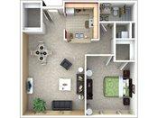 Heritage Landing One Bedroom Floorplan