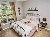 The Bluffs at Nine Mile Creek Model Bedroom