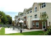 Arbor Pointe Senior Apartments Back Courtyard Area