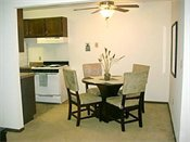 Riverview Apartments Model Dining Room